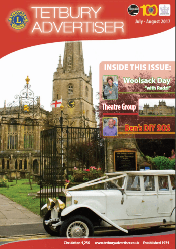 Cover of July/August issue of the Tetbury Advertiser
