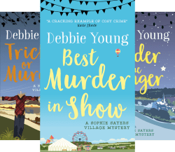 image of covers of first three books in the Sophie Sayers series