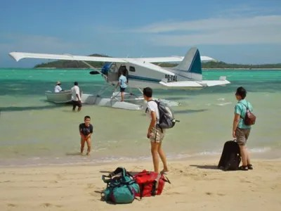 seaplane on beach