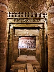 the catacombs at Kom-al-Shoqafa