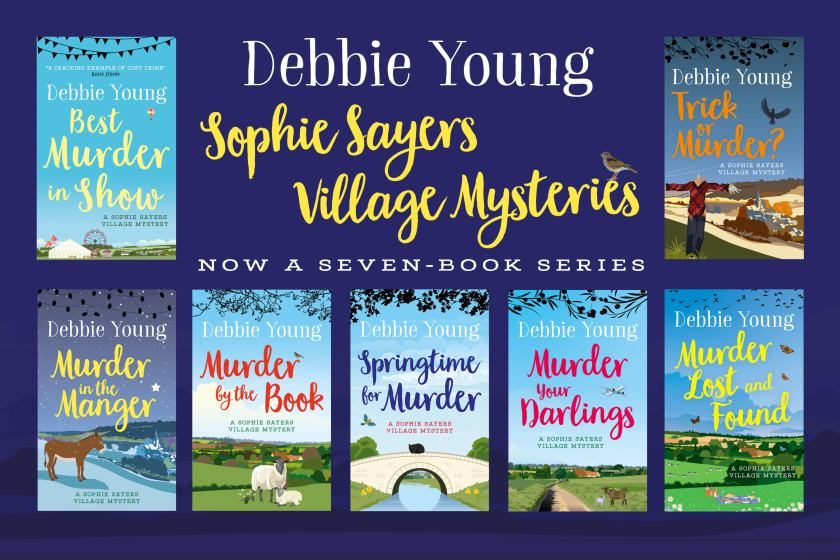 horizontal array of seven books in series