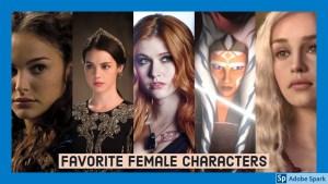 Top Ten Favorite Female Characters