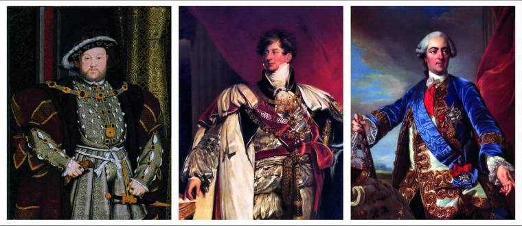 Henry VIII – George IV – Louis XV, Examples of Mania Love 8 types of love