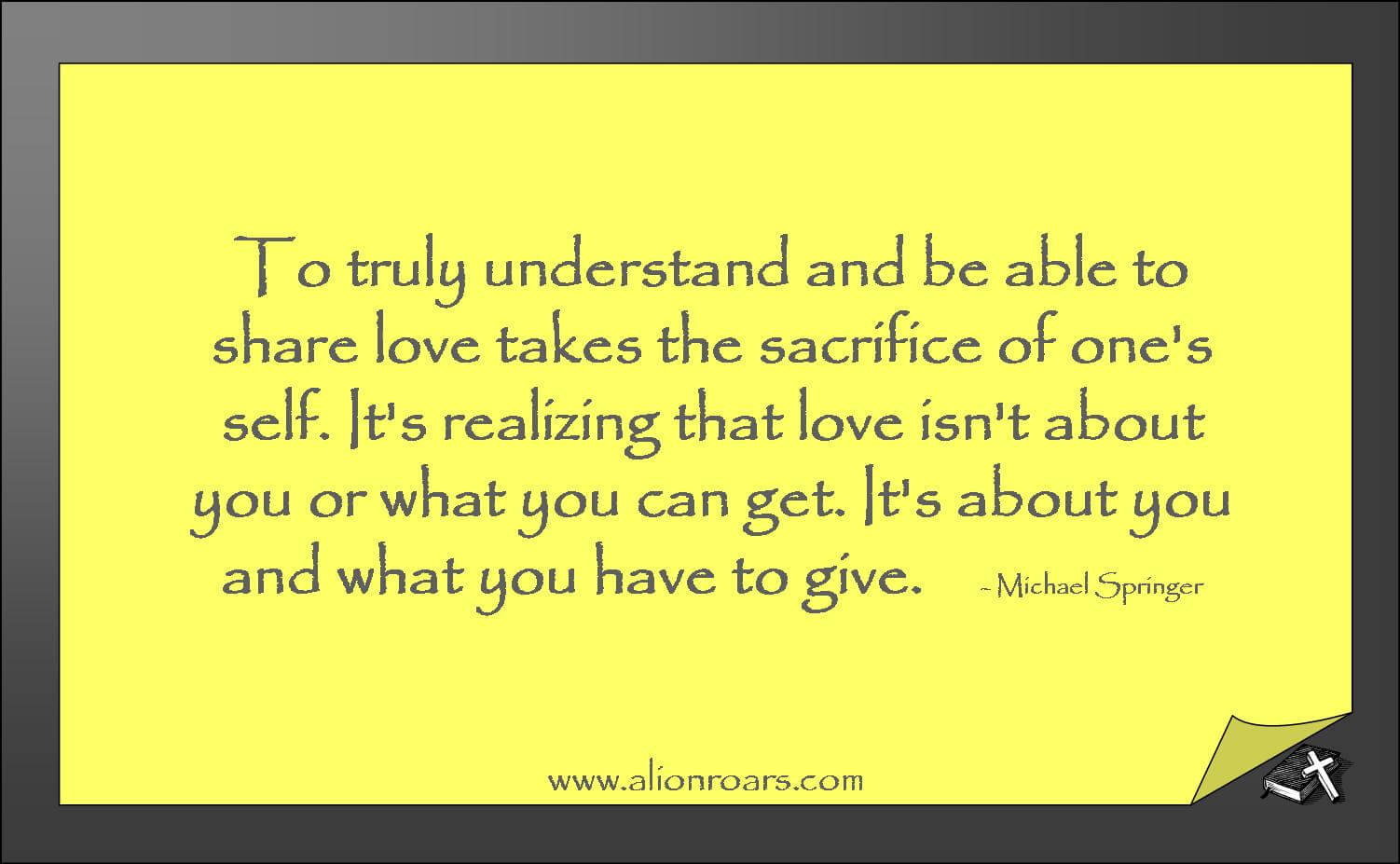 Quotes About Sacrificial Love