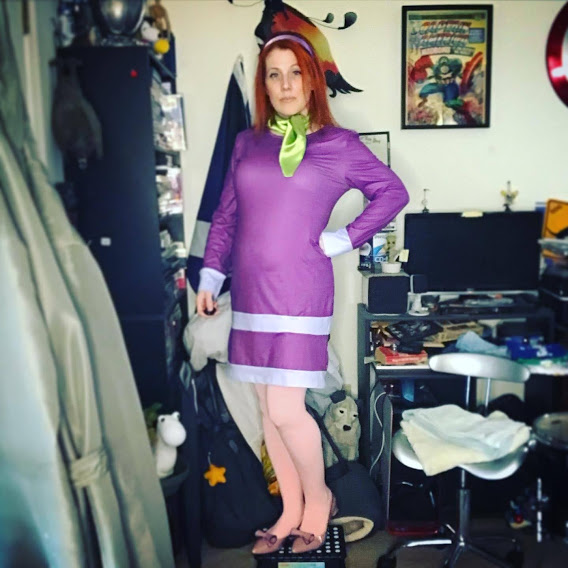 K. Williams dressed as Daphne Blake from Scooby-Doo