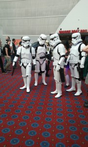 Members of the local 501st. They later had Darth Vader with them, but I was in a hurry when I saw him.
