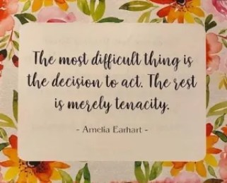 Amelia Earhart quote about tenacity