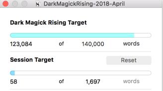 Dark Magick Rising word count April 12 2018