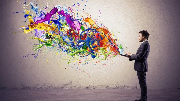 creative writing creativity colorful laptop