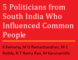 5 Politicians from South India