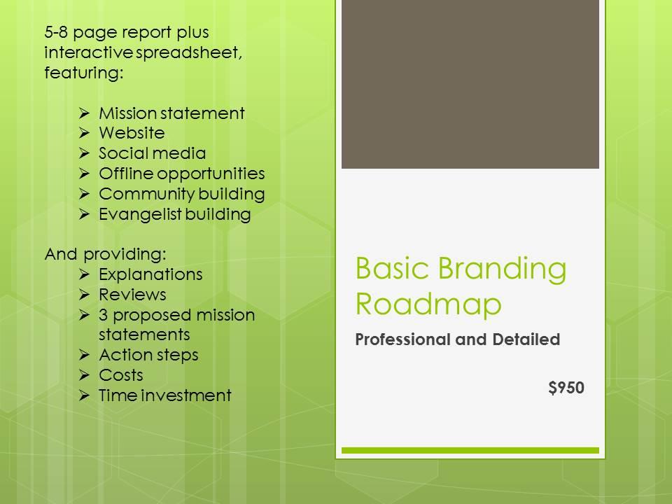 Author Planet Basic Branding Roadmap