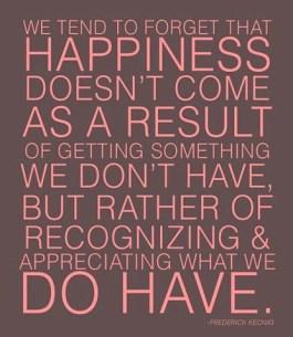 Appreciating