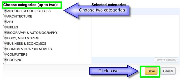 KDP Choose Categories