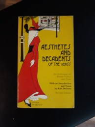 paperback book cover of aesthetes and decadents of the 1908's from author s.m. stevens's collection