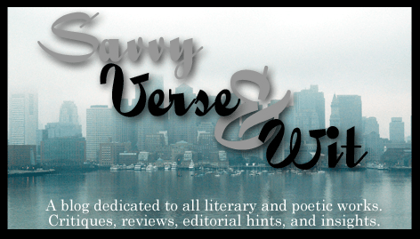 savvy verse and wit book blog masthead