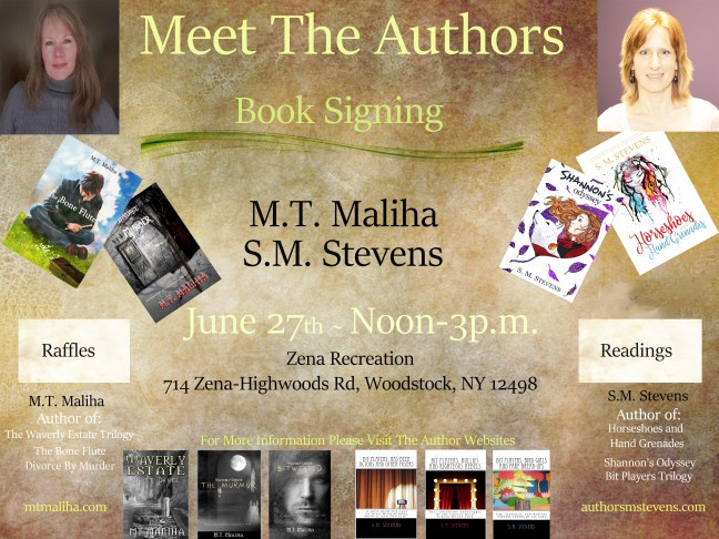 flyer for meet the authors event