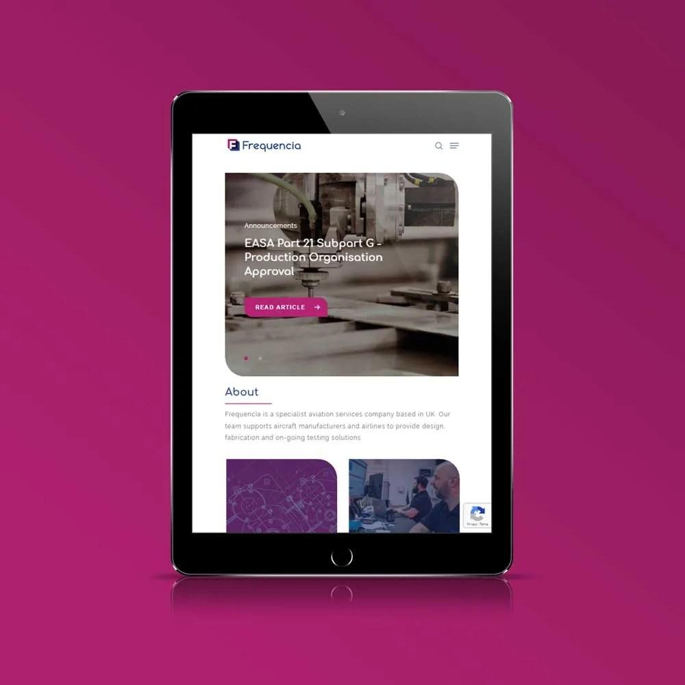 corporate website design inspiration frequncia ltd author studios ipad