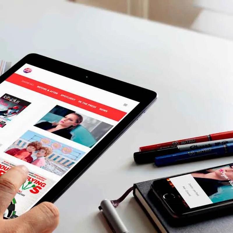 digital colourist website rebecca goodeve design
