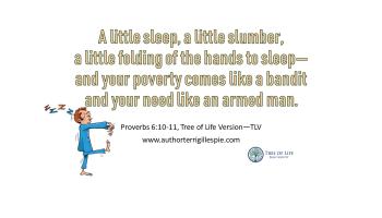Wisdom's Journey: Proverbs 24:33-34 - Terri Gillespie