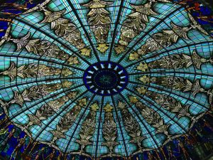 As you've probably noticed I like stained glass and domes...