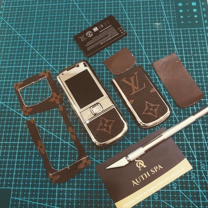 Dán da LV cho Nokia 8800 Gold Arte 7
