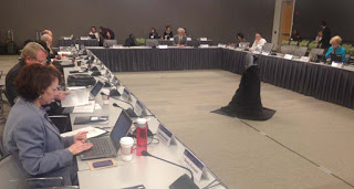 A NIH Autism committee in session (DoD is similar)