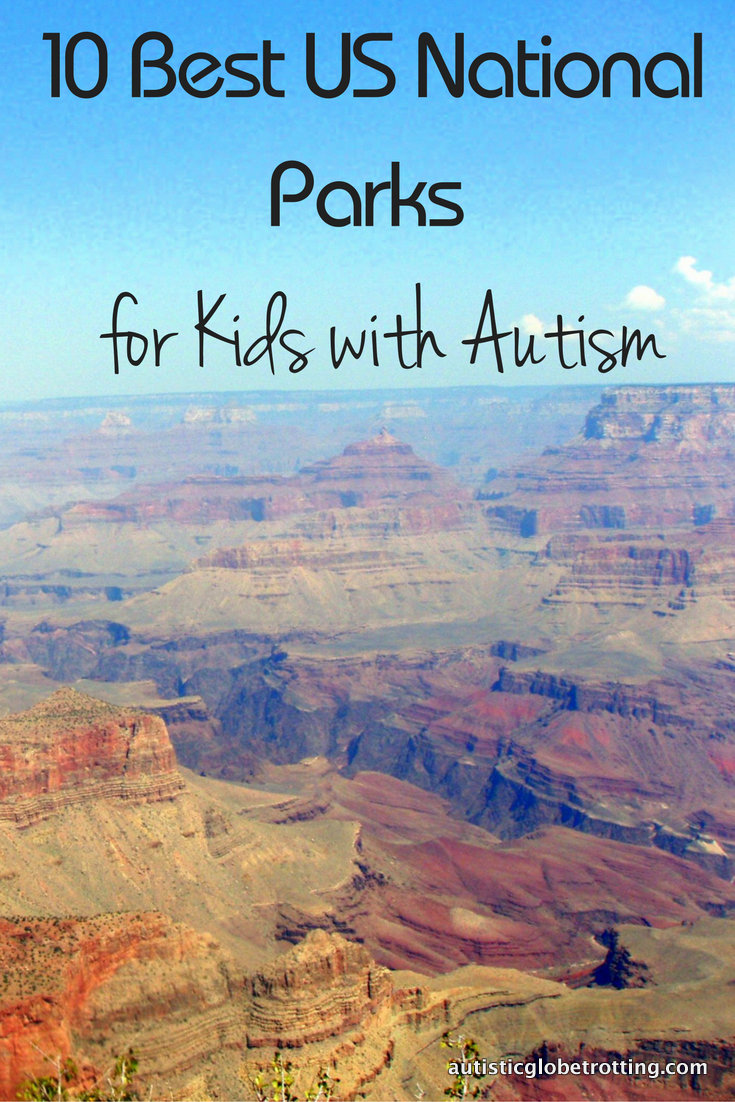 10 Best US National Parks for Kids with Autism pin