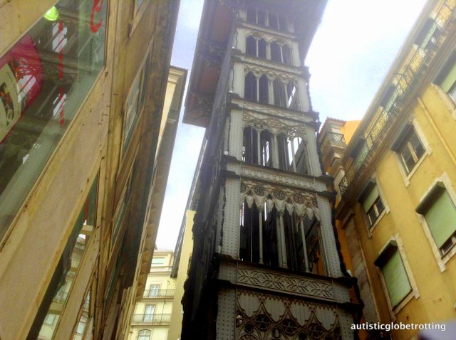 Taking Kids with Autism to Lisbon Portugal elevator