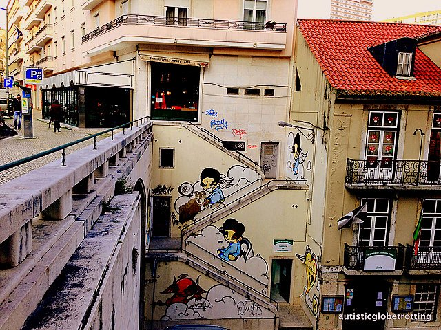 Taking Kids with Autism to Lisbon Portugal art