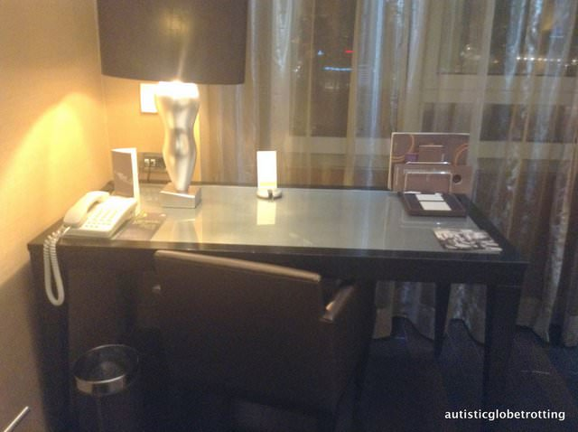 The Family friendly Sheraton Lisbon Portugal desk