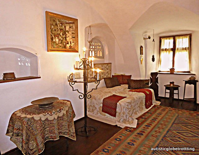 Taking the Kids to Dracula's Castle queen room