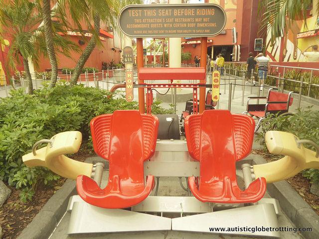 Navigating Universal Studios Orlando with Autism seat