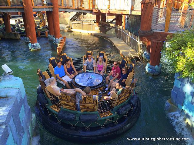 Navigating Universal Studios Orlando with Autism boat