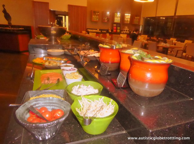 Family Stay at the Intercontinental David Tel Aviv salads