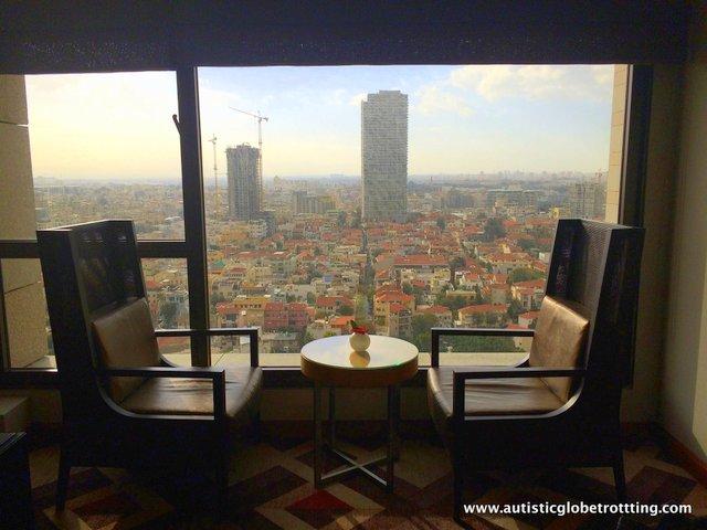 Family Stay at the Intercontinental David Tel Aviv views