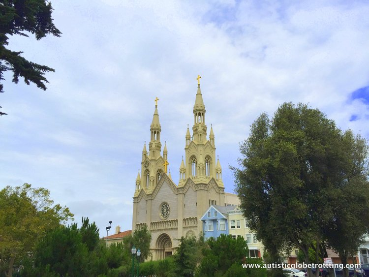 City Sightseeing with San Francisco's Hop On Hop Off Bus church