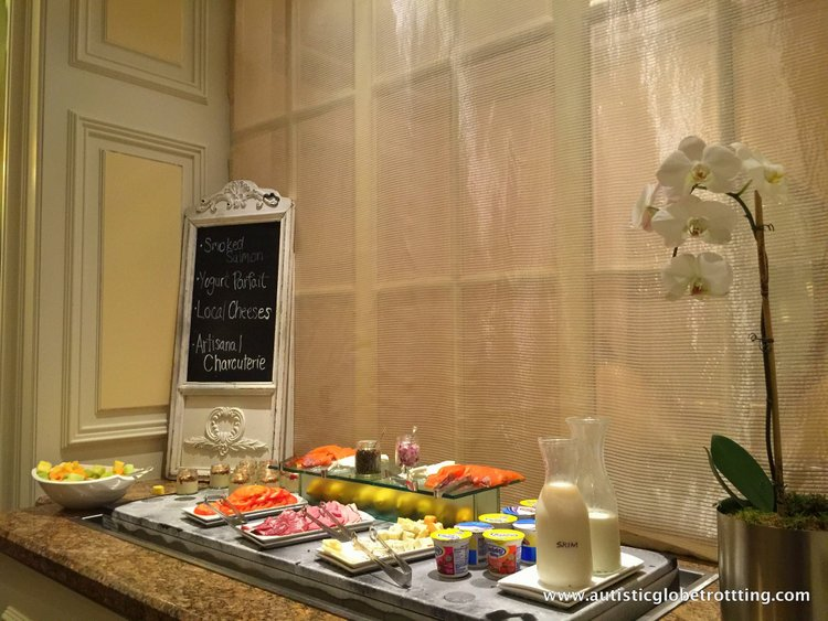 Family Stay at the Fairmont San Francisco Hotel buffet