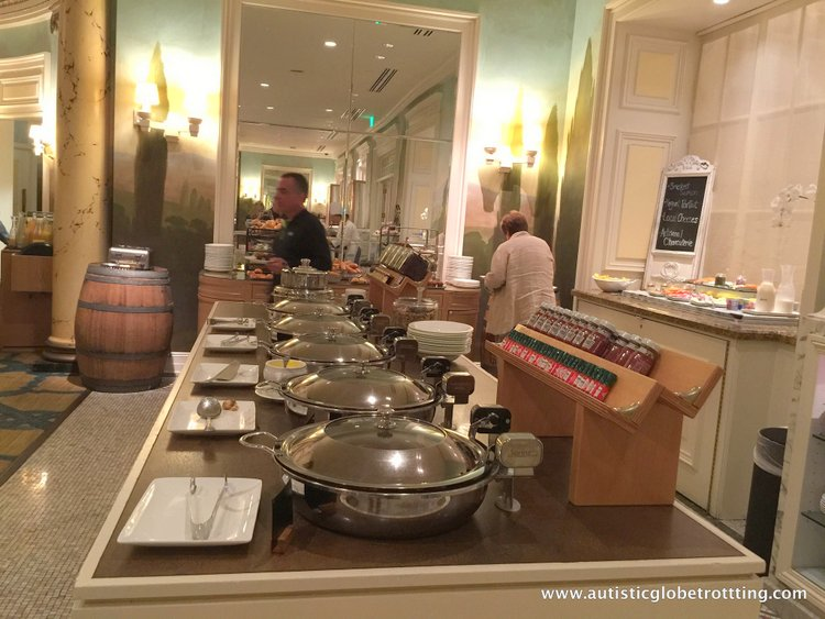 Family Stay at the Fairmont San Francisco Hotel food