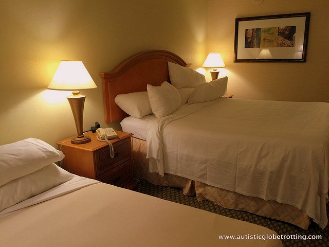 Family Stay at the Manhattan Beach Marriott bed