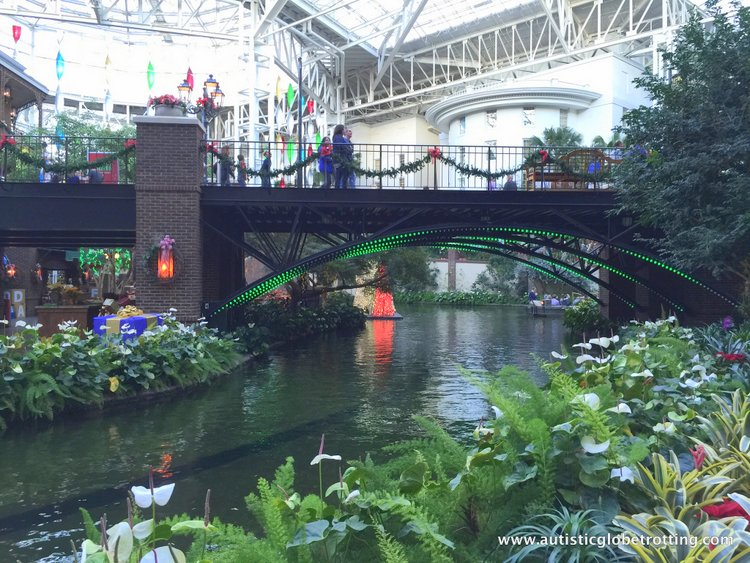 Christmas Stay at the Gaylord Opryland Hotel bridge