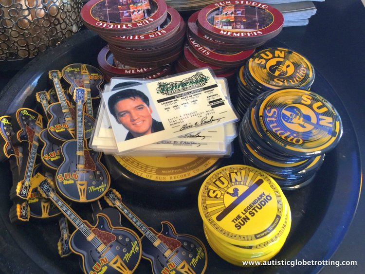 Three Iconic Memphis Music Museums to Explore for Kids with Autism elvis pins
