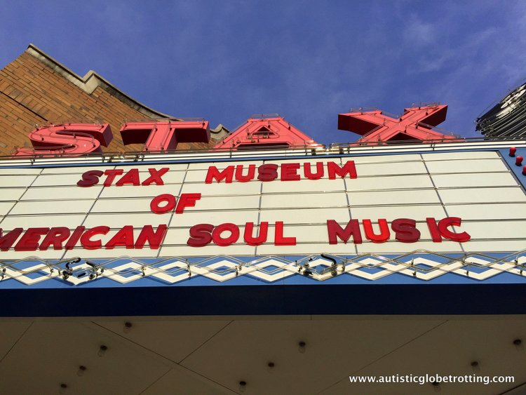 Three Iconic Memphis Music Museums to Explore for Kids with Autism stax sign