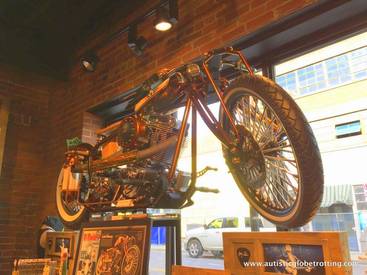 the Johnny Cash Museum motorcycel