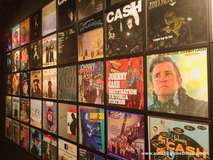 the Johnny Cash Museum album covers