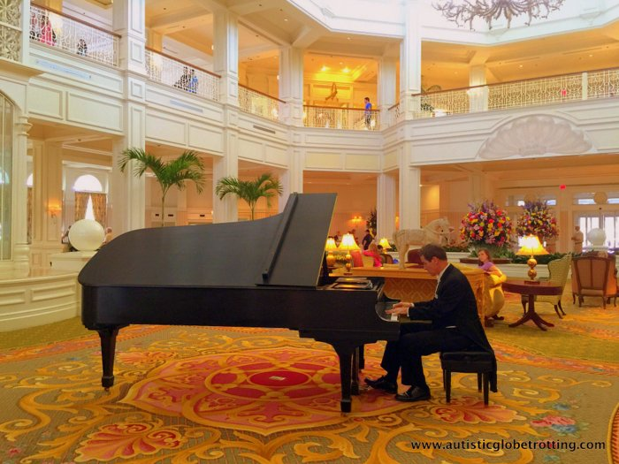 Our Family Stay at Disney's Grand Floridian piano