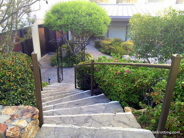 Family Stay at the DoubleTree Los Angeles stair