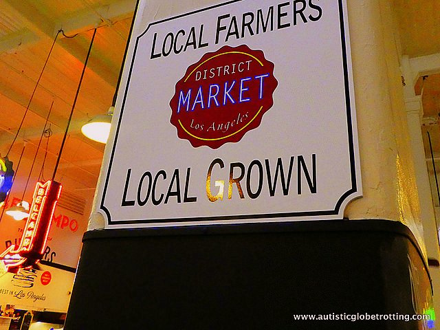 Exploring LA's Grand Central Market with Family sign