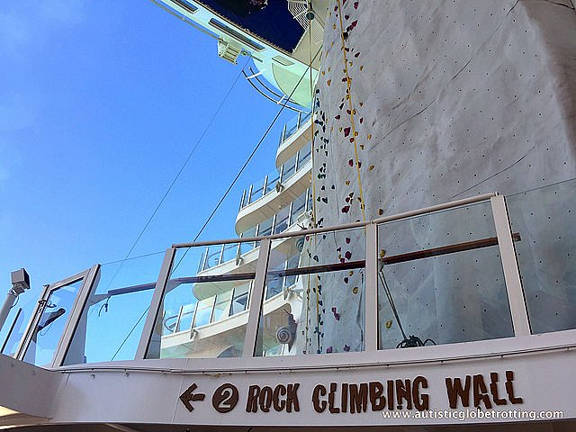 The Autism Friendly Harmony of the Seas wall