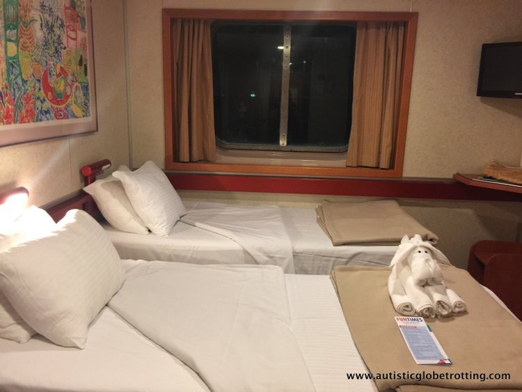 Our Ocean View Cabin Aboard Carnival Imagination beds
