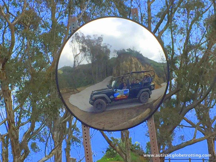Catalina Eco Friendly jeep tour mirror